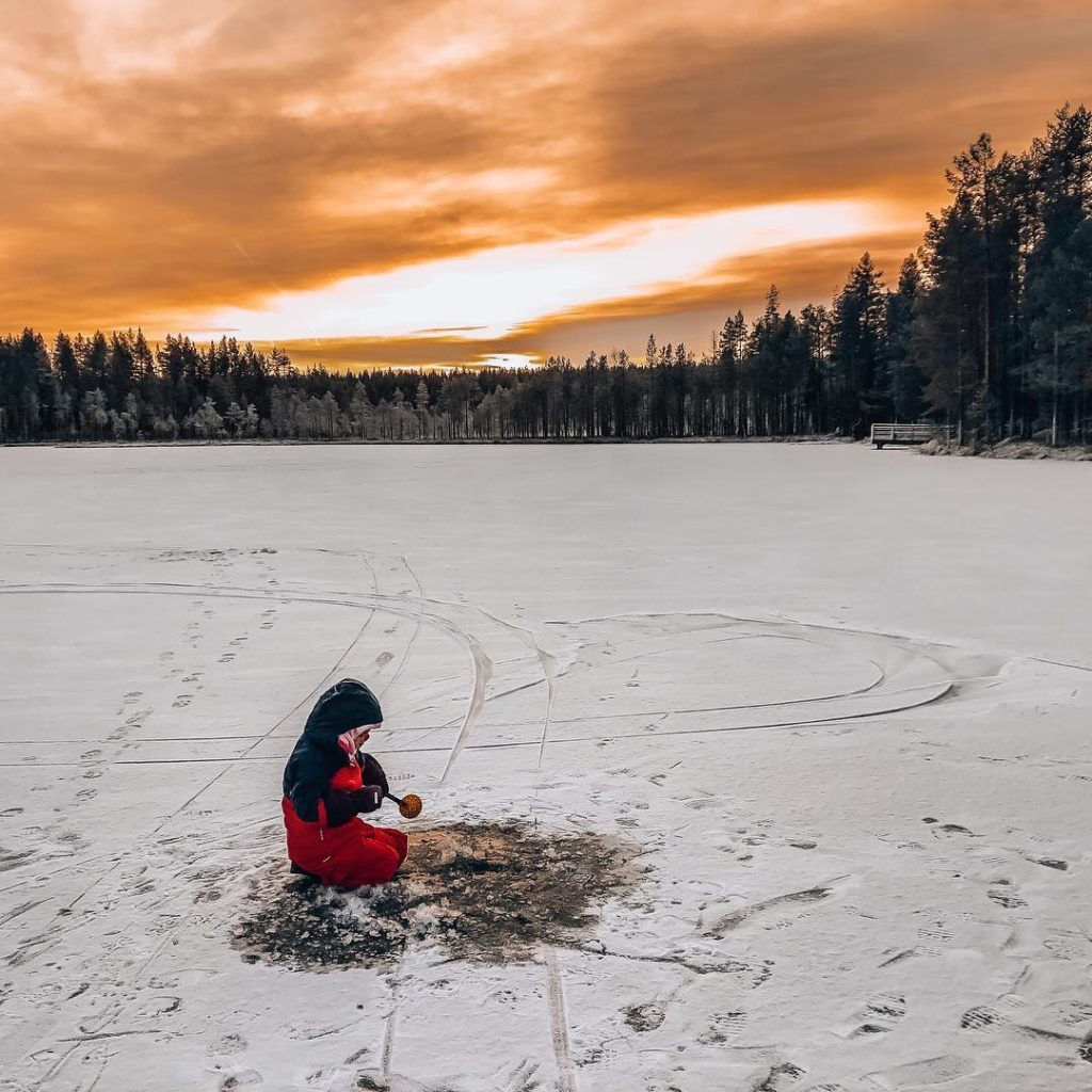 ice fishing best for kids and families rovaniemi