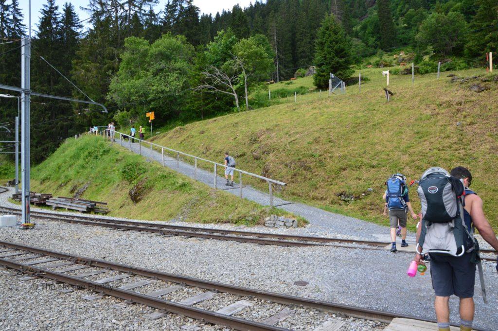 Beginning of Hike from Grutschalp to Murren