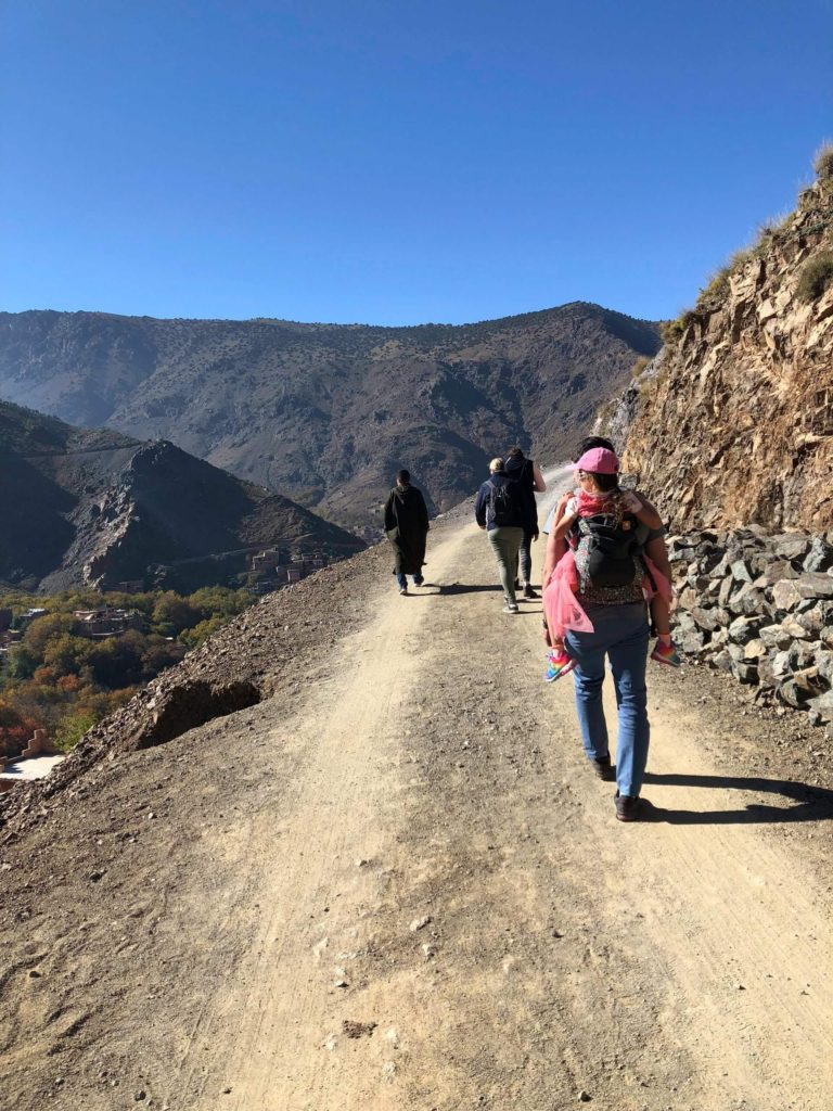 Taking a tour of the Atlas Mountains outside of Marrakech, Morocco