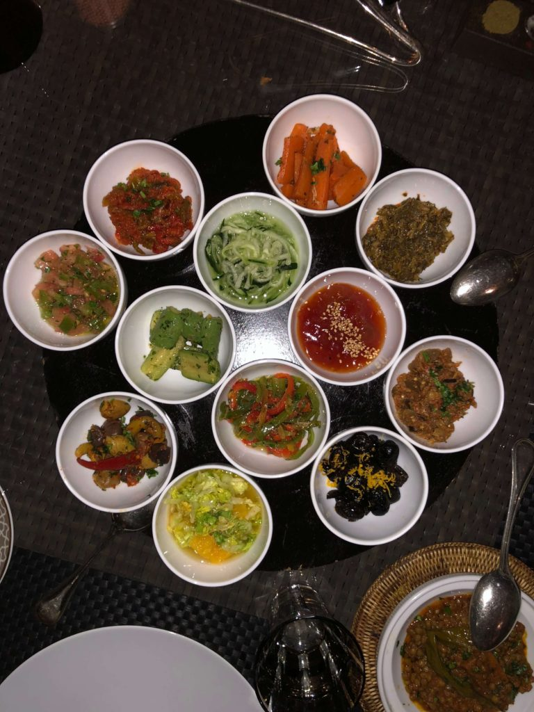 "Moroccan Salads as a ""must try"" food in Marrakech Morocco"