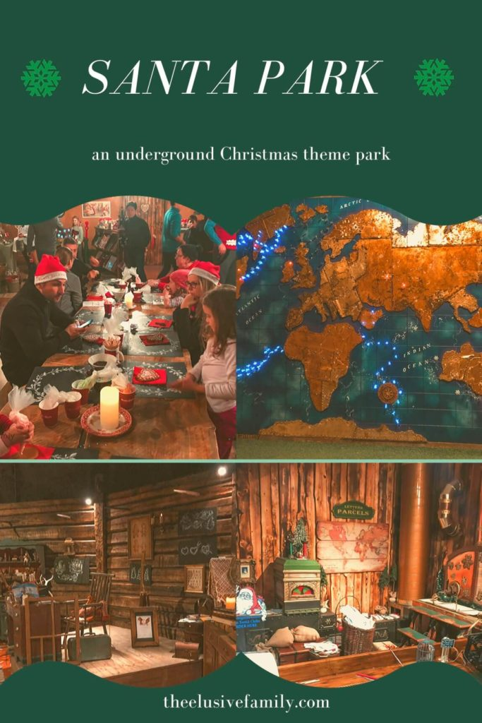 Visit Santa Park in Lapland, Finland!  Located in an underground cavern, this Christmas theme park has elves, Santa, a magical train, an Elf School and more!